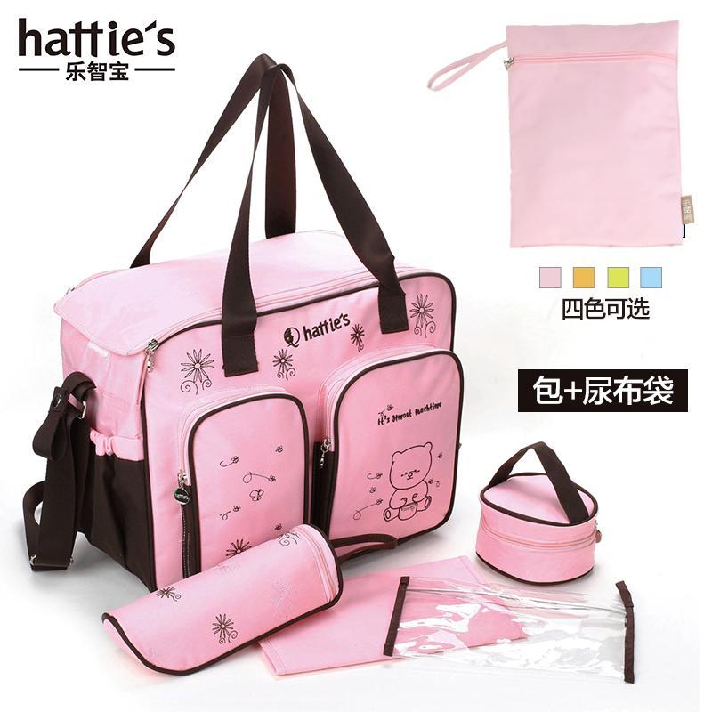 Hattie's กระเป๋าคุณแม่ลูกอ่อนมัลติฟังก์ชั่นความจุขนาดใหญ่แม่และเด็กไหล่ทั้งสองข้างกระเป๋าสะพายข้างสตรีมีครรภ์ทารกกระเป๋าถือออกไปข้างนอกชุดเตรียมคลอด