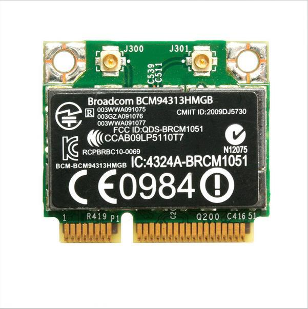 New WLAN Card BCM94313HMGB for HP Pavilion dv7-6000 dv6-6000 802.11n WiFi + Bluetooth 3.0 600370-001 Mini PCI-E card