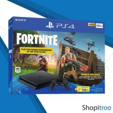 PS4 Slim 500GB Console Fortnite Bundle Pack + Local Sony 2 Years Warranty