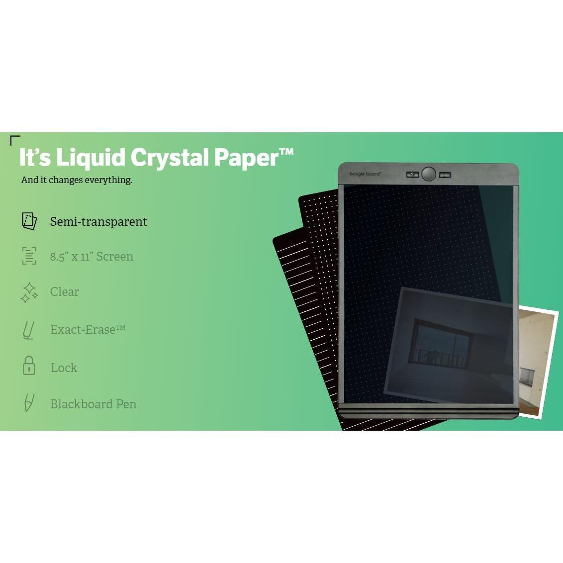 Boogie Board Blackboard 8.5″x11″ Liquid Crystal Paper Writing Drawing Pad eWriter