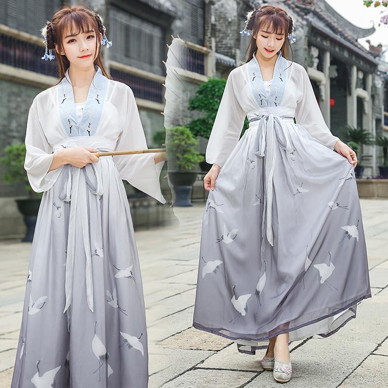 Trung Quốc Phong Cách Phong Cách Dân Tộc Vải Chiffon Nữ Thêu Hoa Áo Hán Phục
