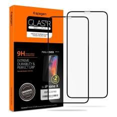 SPIGEN Tempered Glass for Apple iPhone XS / X (2 Pack) 5.8 inch Edge to Edge Coverage