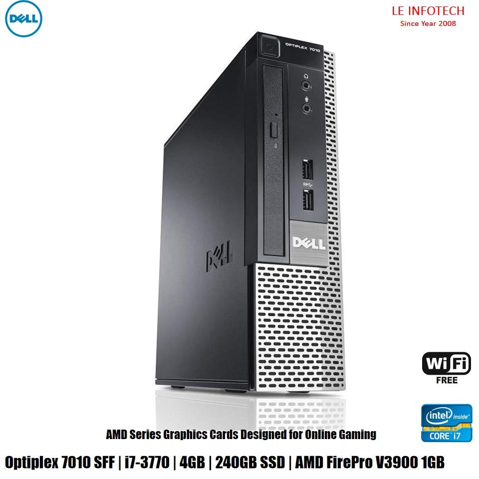 Dell Optiplex 7010 SFF Gaming Desktop i7-3770 #3.4Ghz 4GB DDR3 240GB SSD AMD FirePro V3900 1GB Win 10 Pro One...
