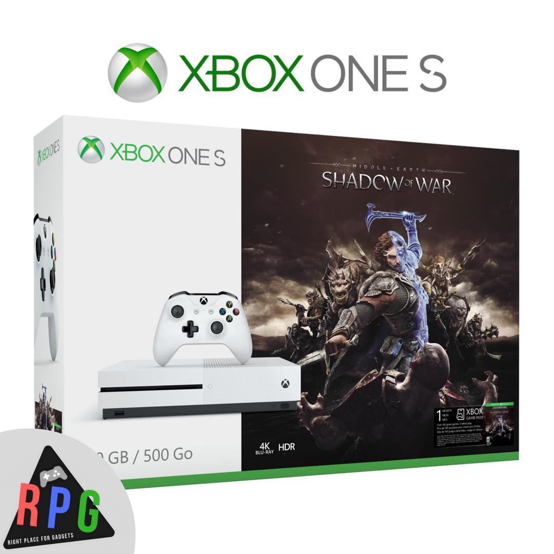 Xbox One S 500GB Shadow of war Bundle Console (1 Year Local Warranty)