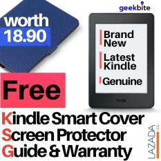GeekBite Amazon Kindle 8th Gen Black + Kindle Smart Cover + Screen Protector (Wifi/Special Offers)