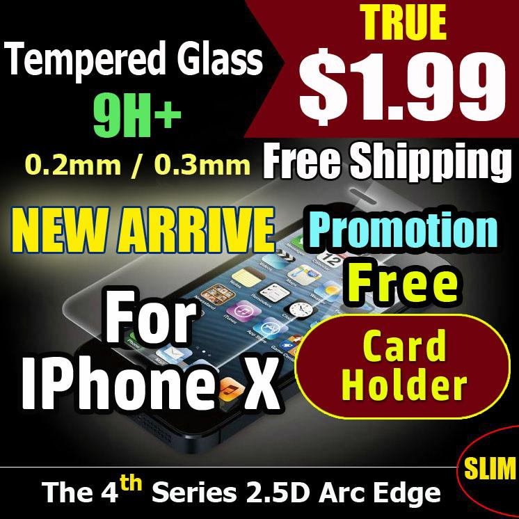 【Tempered Glass】【 IPhone X 】【 A – 0.26mm High Clear 】Tempered Glass Screen Protector for IPhone X High Quailty 9H Hard Fast delivery