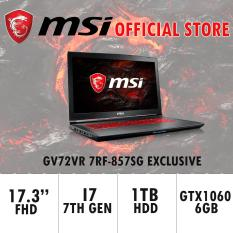 MSI GV72VR 7RF-857SG EXCLUSIVE (I7-7700HQ/8GB DDR4/128GB SSD+1TB HDD 7200RPM/6GB NVIDIA GTX1060) GAMING LAPTOP