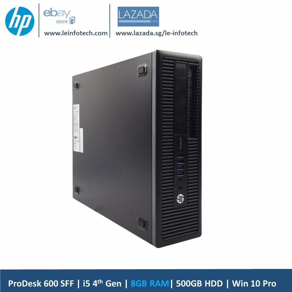 HP ProDesk 600 G1 SFF Small Form Factor Business Desktop Intel i5-4570 #3.2Ghz 8GB RAM 500GB HDD Win 10 Pro 30 days warranty Used
