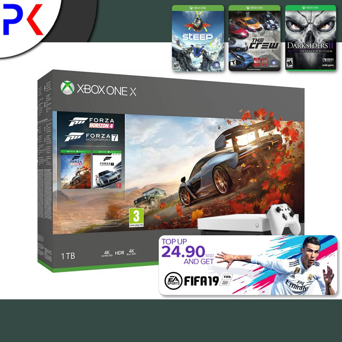 Xbox One X 1TB (ASIA) White Special Edition Forza Horizon 4 Bundle + 3 Free Games