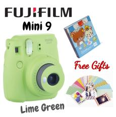 Fujifilm instax mini 9 Instant Film Camera (Lime Green) With Free 1 Album And 1 pack Film Frame Sticker