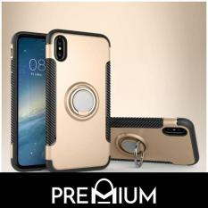 Premium Phone Ring + Metal Plate Tough Cover Casing Phone Cases For iPhone Xs Max XR X 8 Plus 7 6 6S