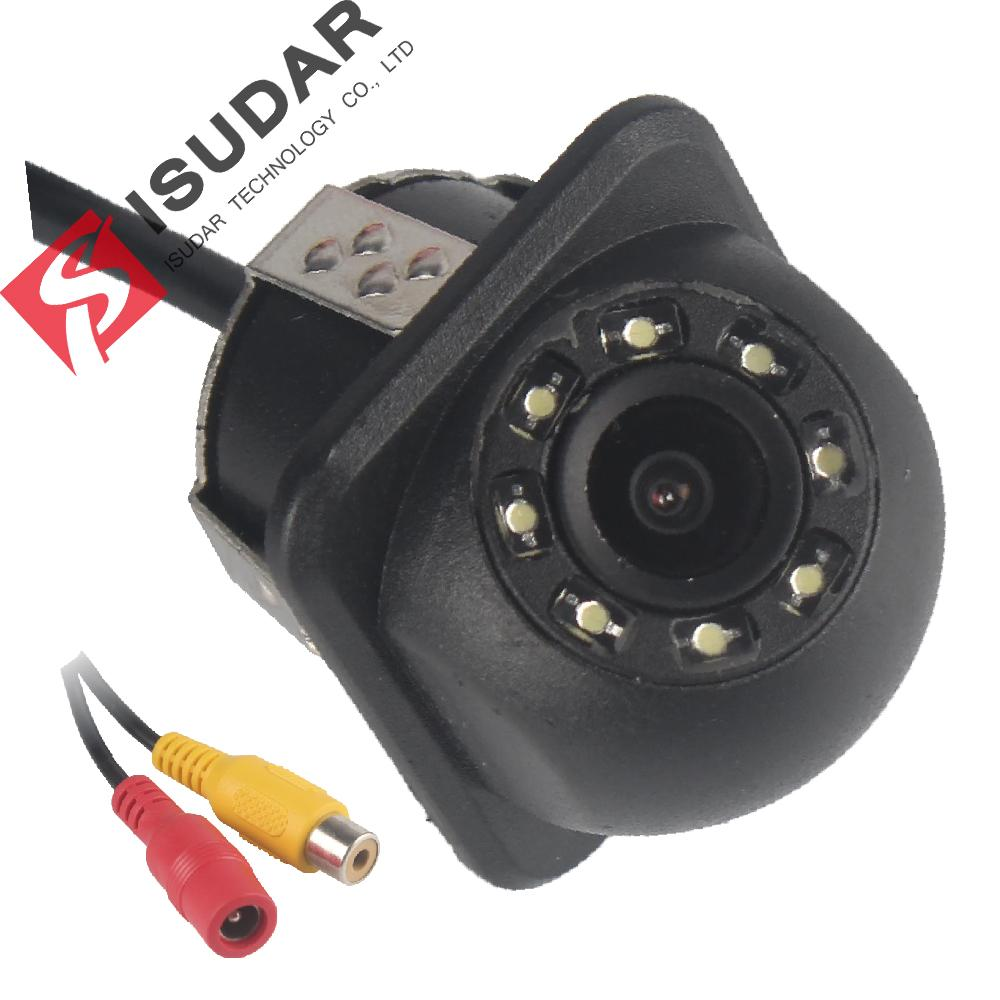 Isudar Rear Camera 8 LED HD With Night Vision 170 Degree Waterproof Reverse Camera Color Image - intl