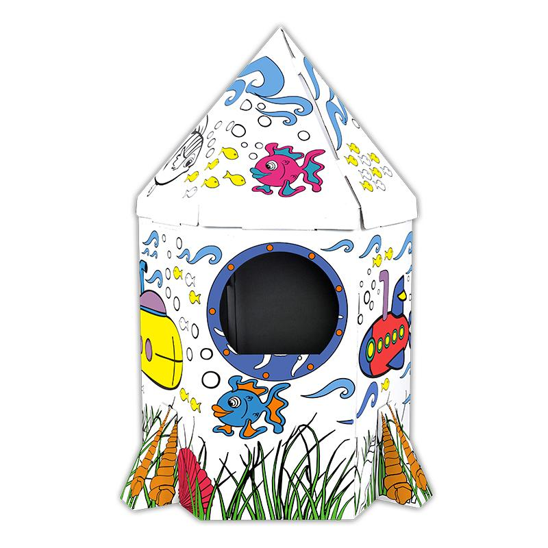 Children's Educational Doodle Assembled Toys Mermaid Rocket Playhouse Creative Tent Nest Parent And Child Interaction Holiday Ceremony