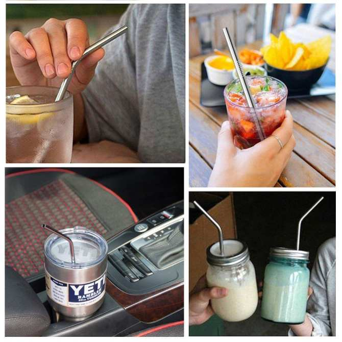 JvGood Metal Straw Reusable Stainless Steel Straws For Large
