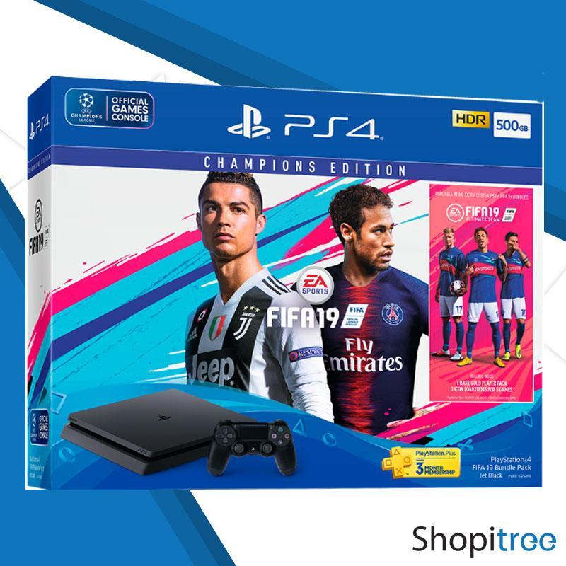 PS4 Slim 500GB Console FIFA 19 Bundle + Local Sony 2 Years Warranty