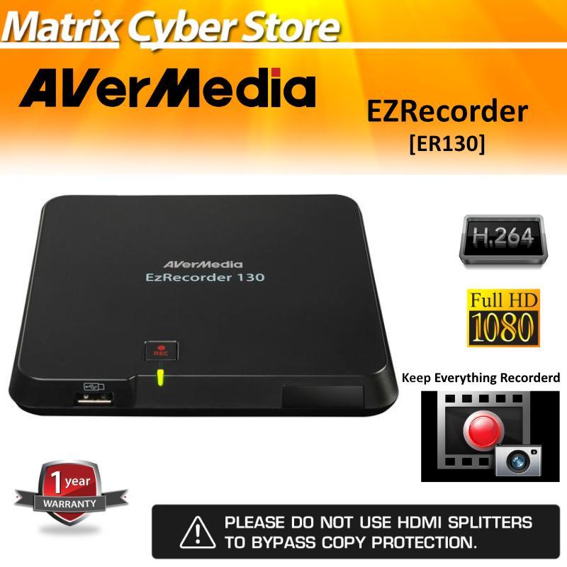 AVerMedia EzRecorder (ER130), High Definition 1080p video capturing  Recorder, PVR, DVR