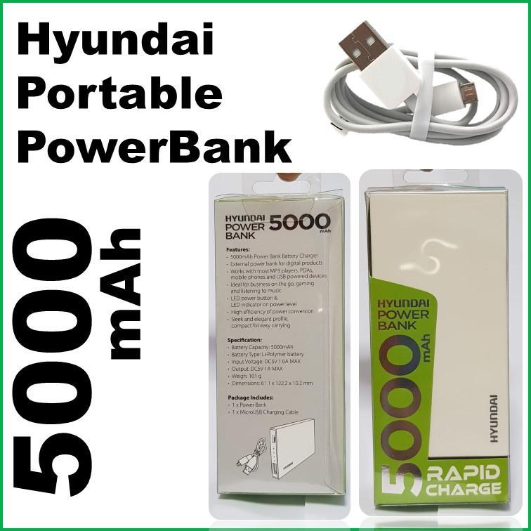 HYUNDAI 5000 MAh ULTRA PORTABLE POWER BANK