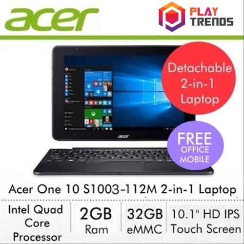 [Online Exclusive] Acer One 10 S1003-112M 2-in-1 Laptop