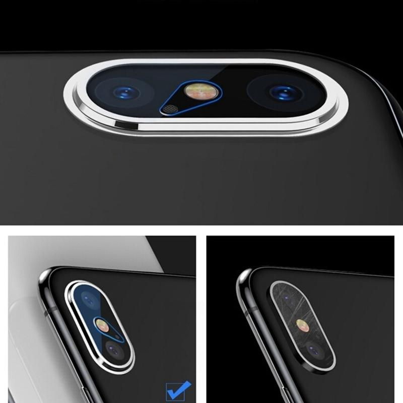 High Permeability Tempered Glass Camera Lens Protector Set for iPhone X / iPhone XS / iPhone XS Max (Silver)