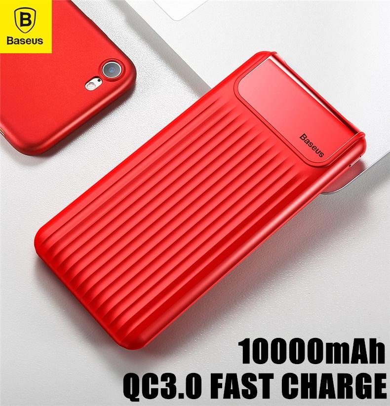 Baseus Thin Digital 10000mAh Power Bank QC 3.0 Dual USB Fast Charge