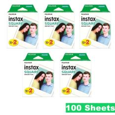 Fujifilm Instax Square Plain White Instant Polaroid Film 100 Sheet for SQ 10 Camera Sp3 3 Printer SQ6