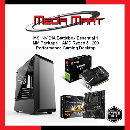 MSI NVIDIA Battlebox Essential 1, Performance Gaming Desktop