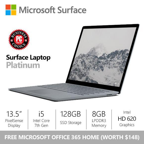 [SALE] Microsoft Surface Laptop i5/8gb/128gb Platinum + FREE Office 365 Home Bundle