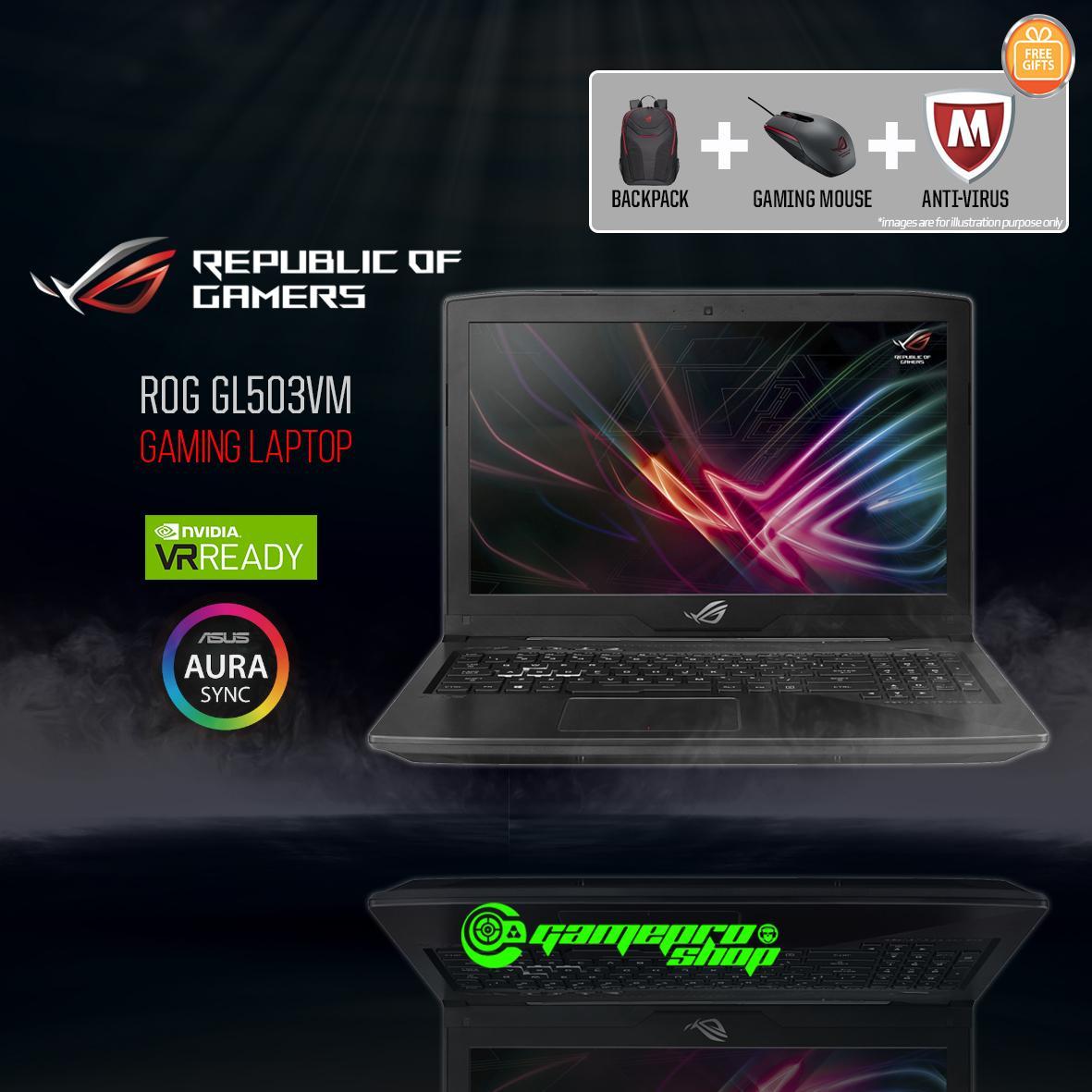 ASUS ROG Strix GL503VM – FY359T (i7-7700HQ/ GTX1060 6GB/ 128GB SSD+ 1TB HDD) 15.6 FHD *THE TECH SHOW PROMO*