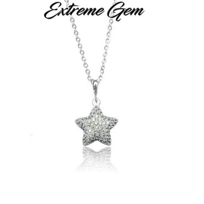 Pave Star Pendant 14mm - Crystal Moonlight / White Opal (Made With Crystals From Swarovski®)