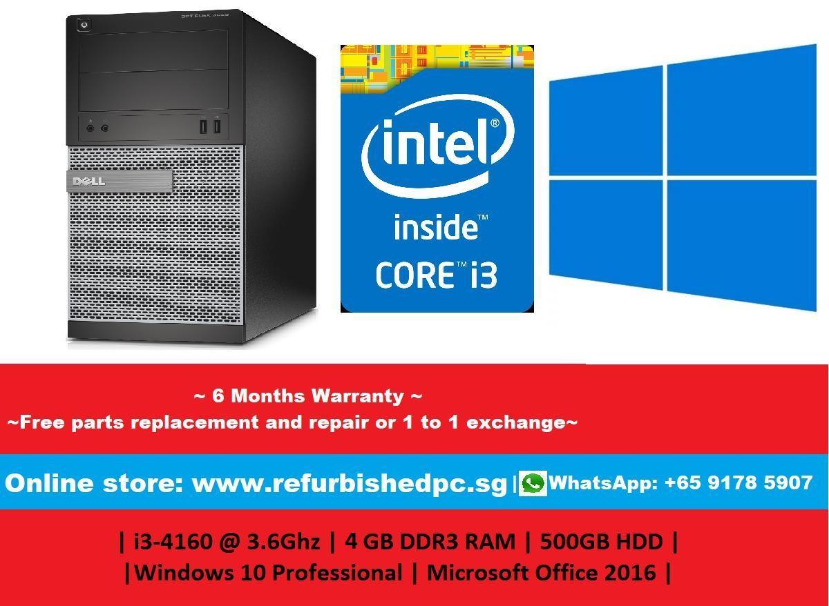 [Refurbished] Dell Optiplex 3020 Mini Tower | Intel Core i5-4570 @ 3.2GHz | 8GB DDR3 RAMS | 1000GB HDD | Windows 10 Professional 64 Bit | Microsoft Office 2016 | 6 Months Warranty |