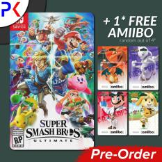 [Pre-Order] Nintendo Switch Super Smash Bros Ultimate + FREE AMIIBO (Ships earliest 7 December)