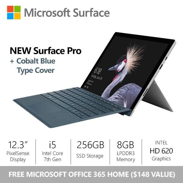 [SALE] Surface Pro (2017) i5 / 8gb / 256gb + Cobalt Blue Alcantara Type Cover Bundle
