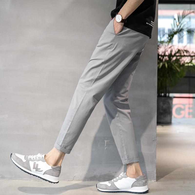 Spring And Autumn Capri Men's Trousers Straight Leisure Pants Male Loose Versatile Korean Style 9 Points Fashion Men's Trousers Trend