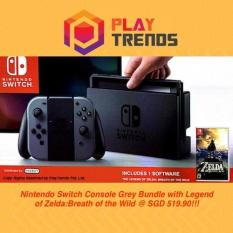 [NEW RELEASE!!!] – Nintendo Switch Console Grey Bundle /w The Legend Of Zelda:Breath of the Wild