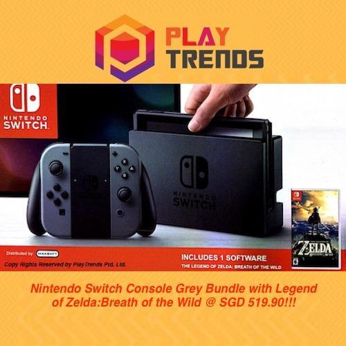 [NEW RELEASE!!!] – Nintendo Switch Console Grey Bundle /w The Legend Of Zelda:Breath of the Wild