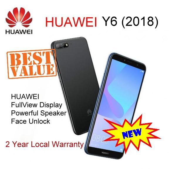 New HUAWEI Y6 (2018) Local 2 year Warranty