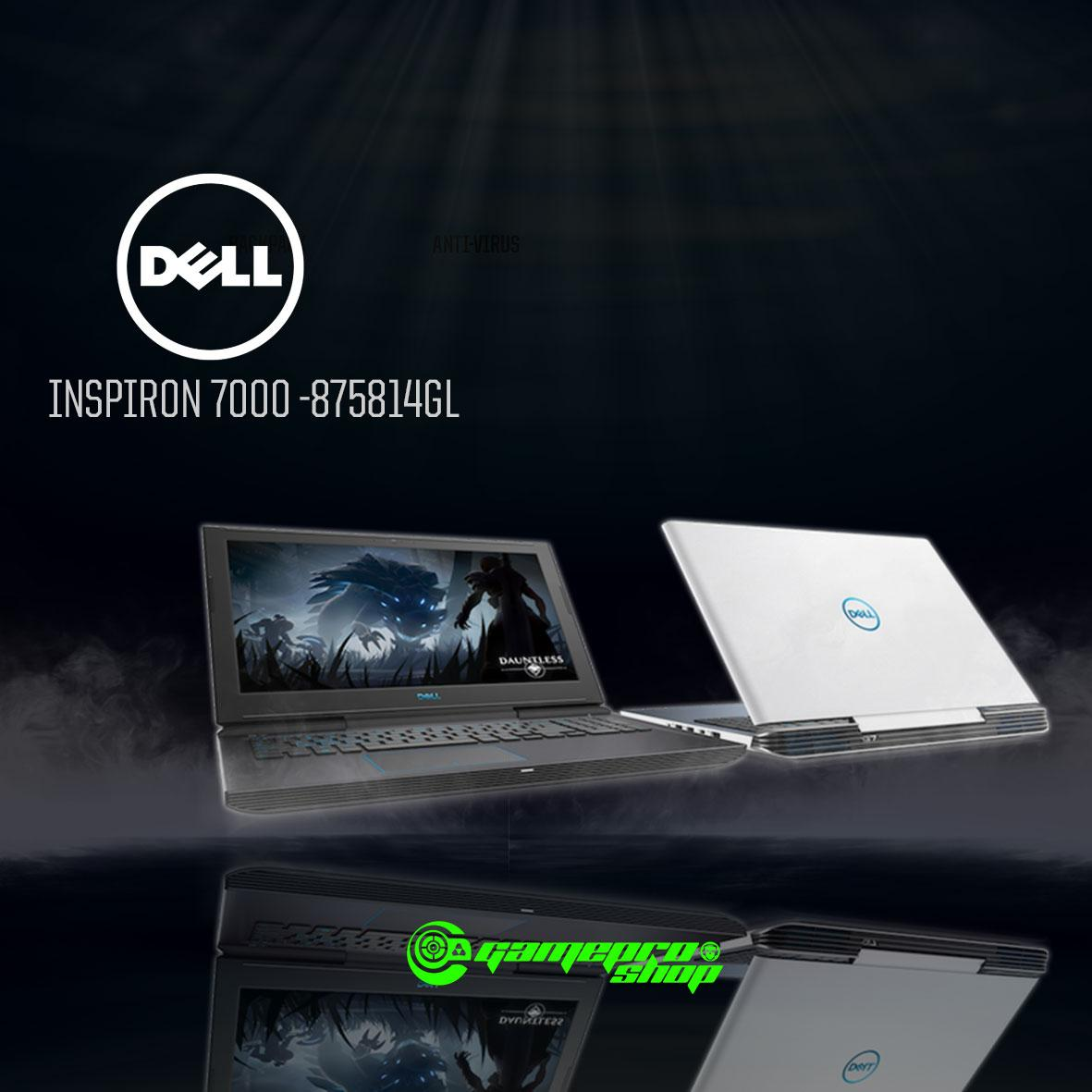 8th Gen DELL Inspiron G7- 7000 GTX 1050Ti Gaming Laptop (G7-875814GL-WH) *NDP PROMO*
