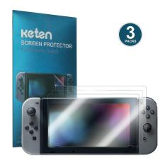 Keten 3 pcs Nintendo Switch Screen Protector Anti-Fingerprint HD Screen Protective Filter Film anti-Bubble PET Film for Nintendo Switch