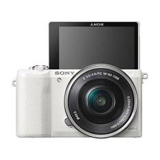 (Special Offer) Sony ILCE-5100 (A5100) Kit (SELP1650) White (Free 1 x 64GB SD Card, 1 x 16GB SD Card, 1 x Additional Battery (FW-50), 1 x Screen Protector, 1 x Camera Case)