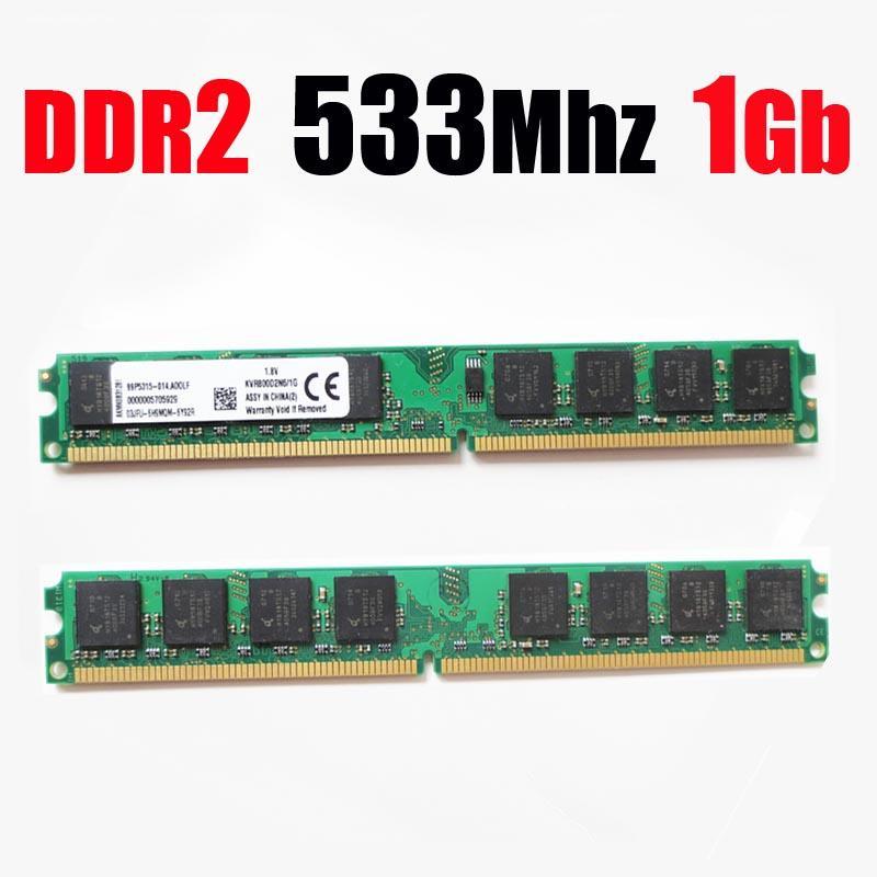 ( for AMD for intel ) PC2-4200 RAM memoria DDR2 1Gb 533 / 1 gb ddr2 53hz 1G memory ram -- lifetime warranty --(for AMD ddr2 667 2Gb)