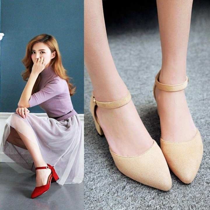 Men's/Women's - Faux suede female straight-line buckle pointy-toe pointy-toe pointy-toe women's sandals  -  Modern a5103c