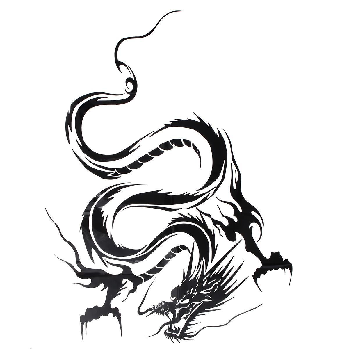 Reflective Dragon Totem Scratching Decals Car Stickers Full Body Car Head Styling Sticker Black Lazada Ph