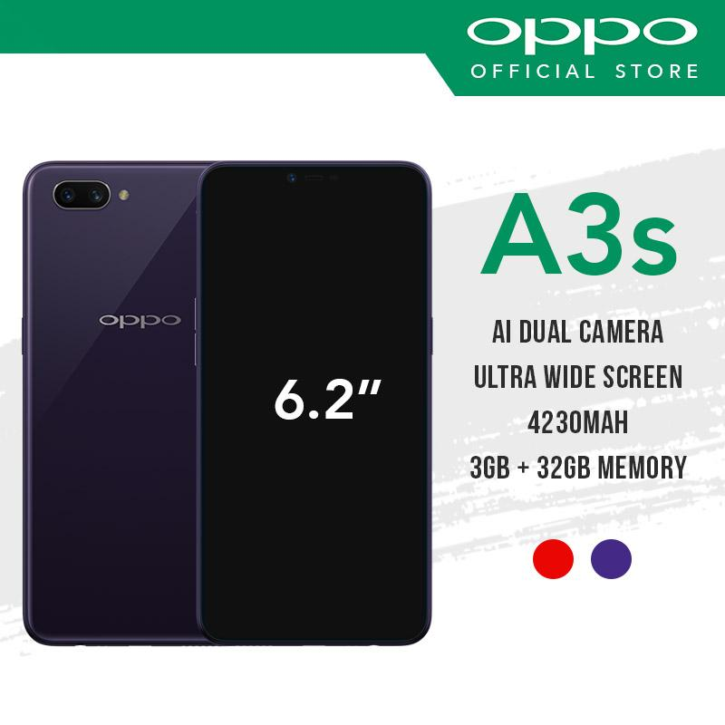 [OPPO Official] OPPO A3S with 2 Years Warranty Free Fast Speed 10800maH Powerbank