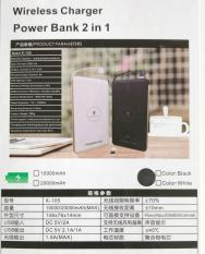Powerbank Wireless charger 20000 mAh Slim Light weight compact Qi Portable Power bank