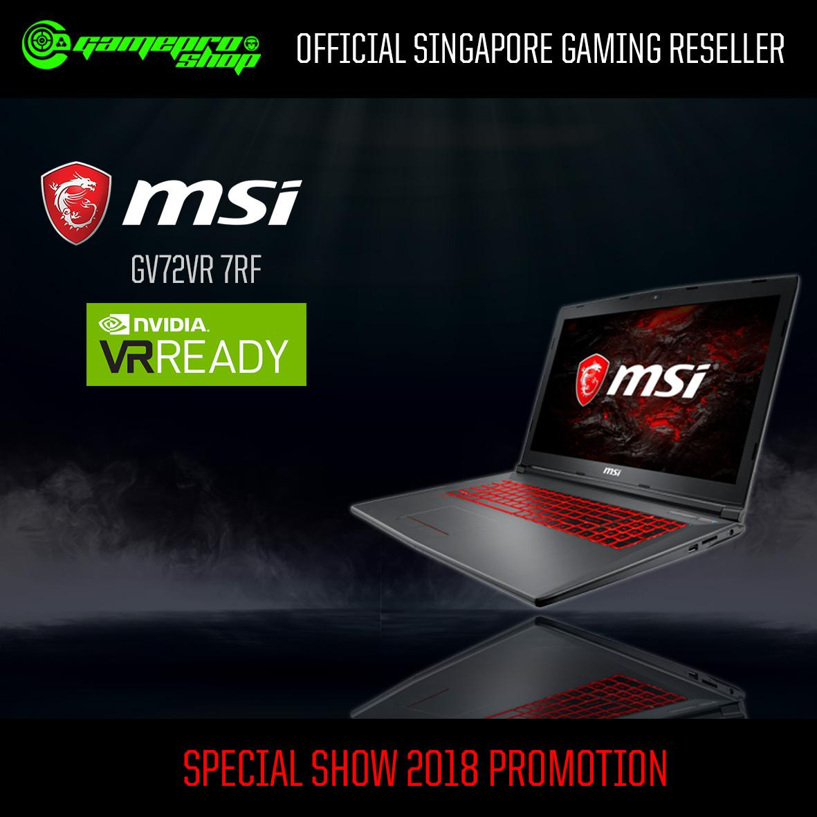 MSI GE73VR 7RF RAIDER (I7-7700HQ, 16GB RAM, GTX1060 6G, 1TB HDD + 128GB SSD) With 120Hz *COMEX PROMO*