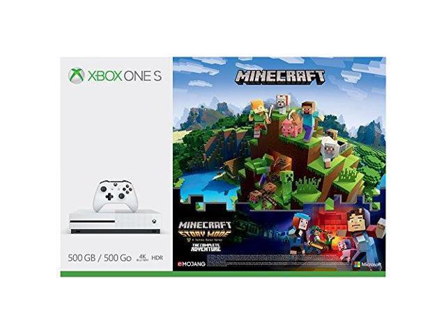 Xbox One S 500GB Minecraft Complete Adventure Bundle + 2 Games
