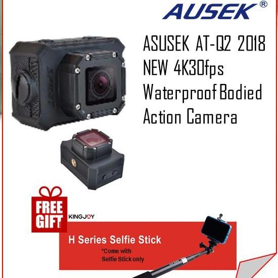 ASUSEK AT-Q2 2018 NEW 4K30fps Waterproof Bodied Action Camera