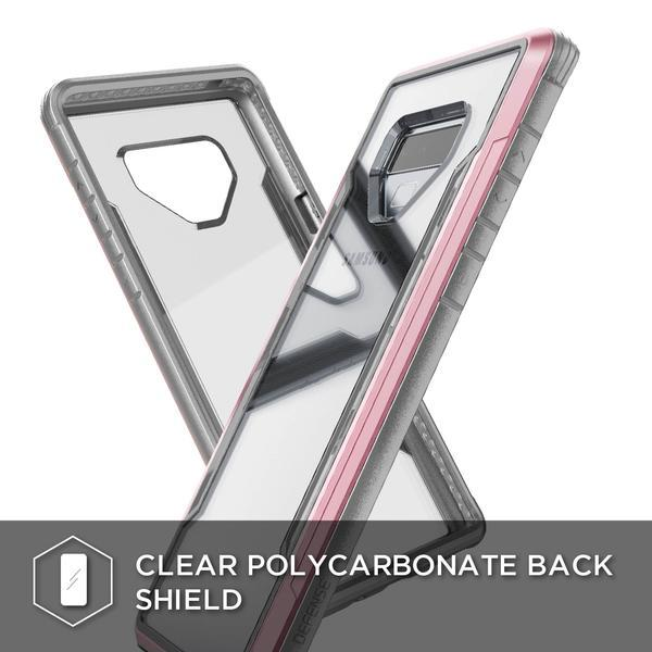 X-Doria Defense Shield Case for Samsung Galaxy Note 9, X-Doria Military Strength Impact Protection with Soft Rubber Interior Case for Galaxy Note 9, Easy Install Scratch Prevention Heavy-Duty Machined Aluminum Bumper Case For Note 9