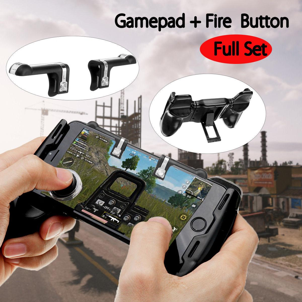 V6.0 L1R1 Sharpshooter Gaming Trigger Fire Button Aim Key Phone Shooter Controller PUBG + Gaming Joystick Handle Holder Controller for Games on iPhone and Android