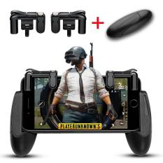 Mobile Game Controller, 1 Pair Game Triggers for Knives Out/PUBG/Fortnite/Rules of Survival and 1 Pair Mobile Game Controller for 4.5-6.5inch Android Phone iPhone